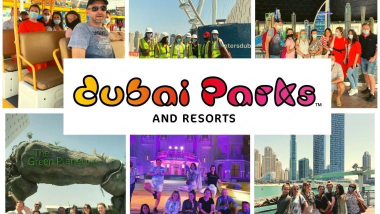 Fam trip doDubai Parks and Resorts